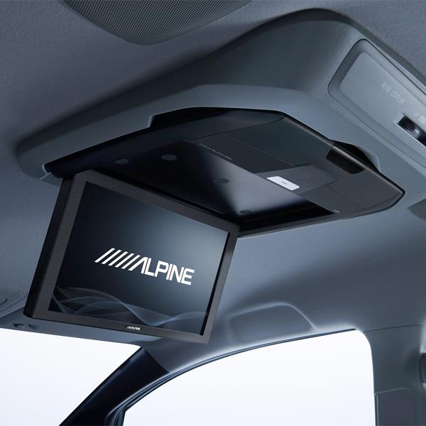 後席モニター 12.8型LED WXGAリアビジョン HDMI入力付き RXH12X-L-B ALPINE(アルパイン)